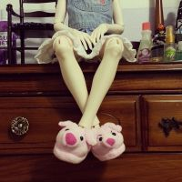 Piggy Slippers by bellabellababyy