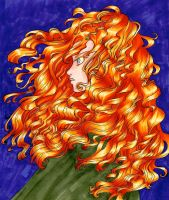 Merida from Brave by Nyra992