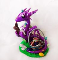 Easter Dragon Sculpture by ByToothAndClaw
