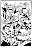 TMNT by Azulmelocoton