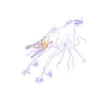 Mutated Horse Creature by RoomsInTheWalls