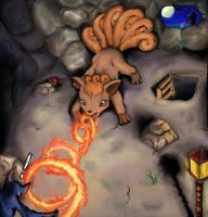 The Fire Spin Vulpix by Janna--San