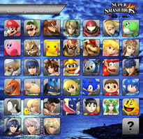 SSB4 - Official Roster 2.0 by AtomicLugia