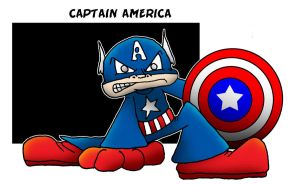 Lil' Captain America by 5chmee