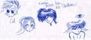 Laser tag doodles XD by GenkiShuichi