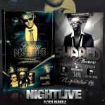 PSD Nightlive Flyer Bundle - 2in1 by retinathemes