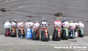 Harry Potter Kokeshi Group by Vixie-Bee