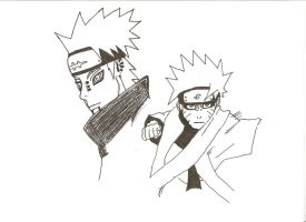 Naruto and Pain by kyuubi-jacob