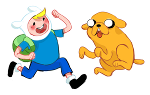 Jake And Finn Keychains by some-hipster