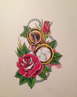 Flash Rose and Pocket Watch by SierraBrittany