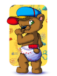 Max hanging out in his Cap n Diaper by maxthecub