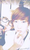 Kevin and Kiseop by donghopandabear