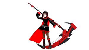 (MMDxRWBY) Ruby Rose (Model DL) by naruchan101