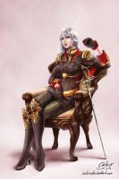 Valkyria Chronicles Selvaria Bles Commission by Celarx
