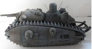 Zod's command tank Left side by Dru-Zod
