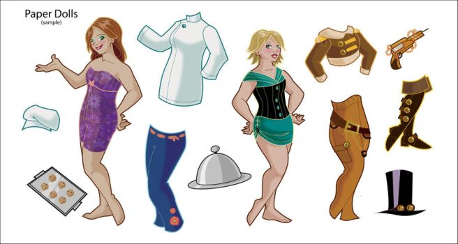 More paper dolls by BetterthanBunnies