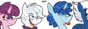 Adorable Manes Squad by Dizzee-Toaster