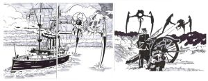 War of the Worlds sketch cards 2 by Bowthorpe