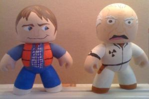 Marty Doc BTTF Mighty Muggs by Derrico13