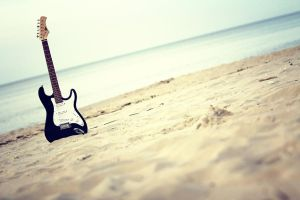 Guitar On The Beach by PhotoYoung
