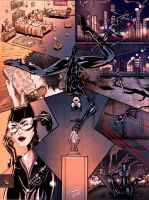 Catwoman Page Color by JECasassus