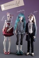 Comparison with Unoa doll by Cerisedolls