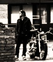 A man and his motorbike by SummerLux