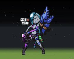 LOL minecraft JinX by kazaret