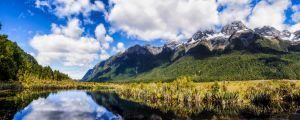 Mirror lakes panorama by wolfblueeyes