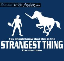 Strangest Thing tee - Limited Sale by KirbywithaMasamune