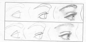 how to draw an eye 3 by cutiedani21