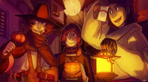 All Hallows Eve Heroes by Vhu