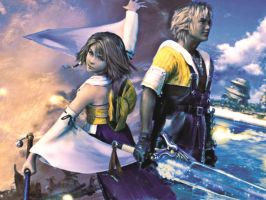 Final Fantasy X Yuna and Tidus by LumenArtist