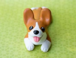 Corgi pup sculpture by SculpyPups