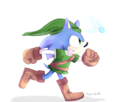 Sonic the Hero of Hyrule by Pyon-Suki