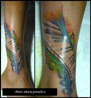 Music Tattoo by grimmy3d