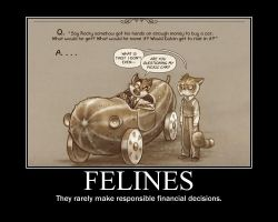 Feline Finances Poster by tomthefanboy