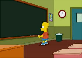 Bart Simpson's after school by JackSGC
