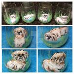 Dog Wine Glass Commission by chibigiggles