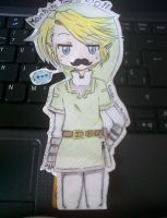Link in Moustache Time! by KuroNeko-LoveTapioca