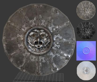 3D Skyrim shield made in zbrush by TomLoux