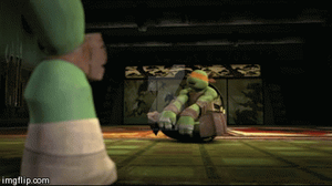 THIS LOOKS FUN BUT IT'S NOT TRAINING(GIF) by MLPfimAndTMNTfan