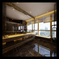 Dark Bathroom by deguff