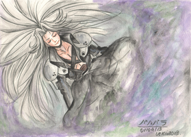 Sephiroth in the LifeStream by uekiOdiny