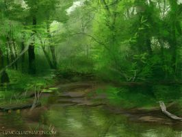 Forest Speed Paint by Senshisoldier