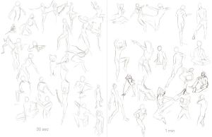Assignment 1: Gesture Drawing by VerticalForklift