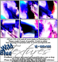 16 Wild Blue Textures by princess-RxY