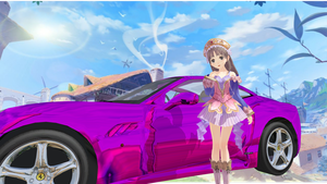Request: Hayato510 - Totori and her Ferrari by XenoShaun