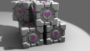 Companion Cubes Group Render by MRX-II