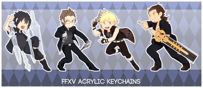 FFXV Acrylic Keychains (Sample) by akkalime